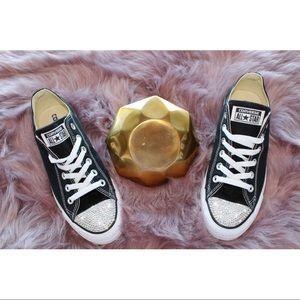 ⚡️Custom Bling Converse (Black)⚡️